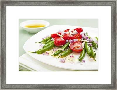 Green Bean And Tomato Salad Framed Print by Colin and Linda McKie
