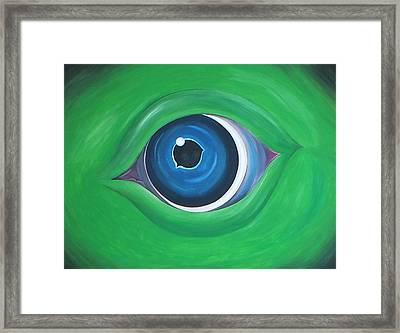 Green Beast Framed Print by Sven Fischer