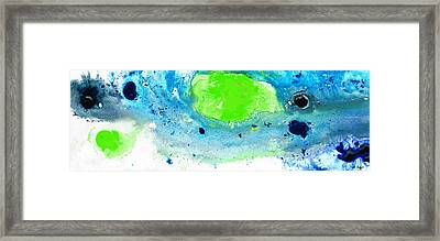 Green Blue Art - Making Waves - By Sharon Cummings Framed Print by Sharon Cummings