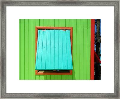 Green Cabin Framed Print by Randall Weidner