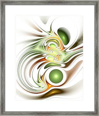 Green Creation Framed Print by Anastasiya Malakhova