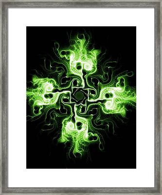 Green Cross Framed Print by Anastasiya Malakhova
