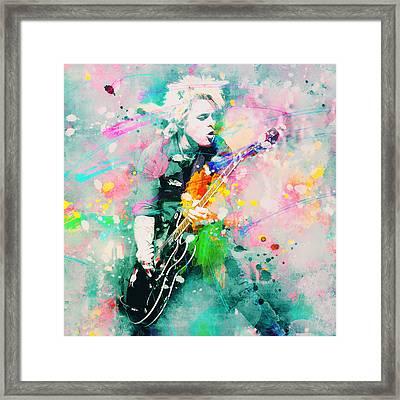 Green Day  Framed Print by Rosalina Atanasova