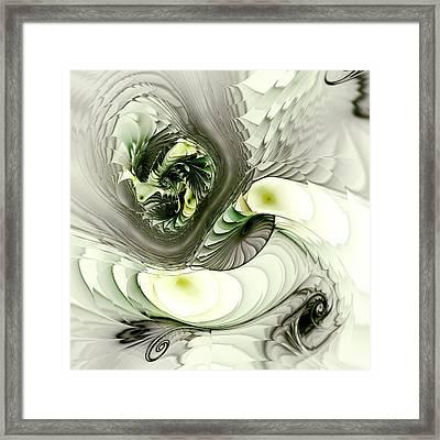 Green Dragon Framed Print by Anastasiya Malakhova