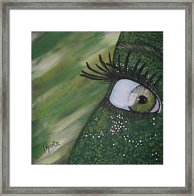 Green Envy Framed Print by Tammy Rekito