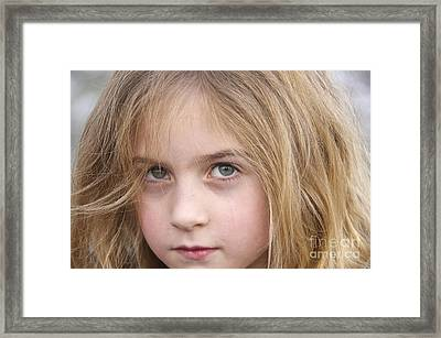 Green Eyes Framed Print by Sean Griffin