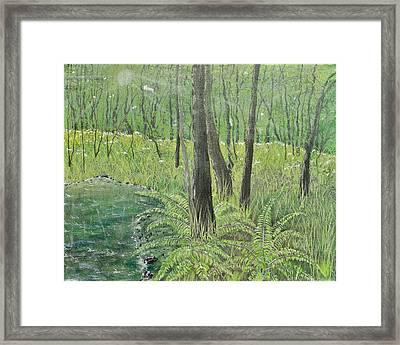 Green Fern Framed Print by Leo Gehrtz