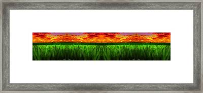 Green Fields In The Morning Framed Print by Bruce Nutting
