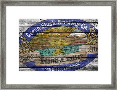 Green Flash Brewing Framed Print by Joe Hamilton