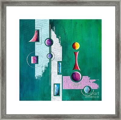 Green Geometrical Play Framed Print by Franziskus Pfleghart