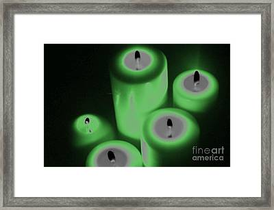 Green Glow Framed Print by Tina M Wenger