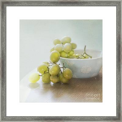 Green Grapes Framed Print by Cindy Garber Iverson