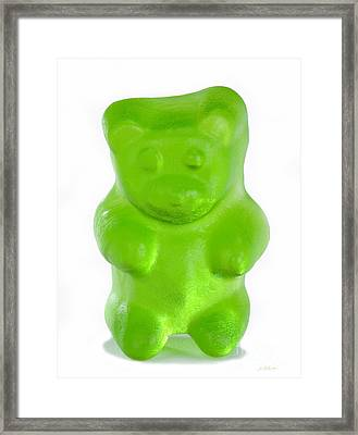 Green Gummy Bear Framed Print by Iris Richardson