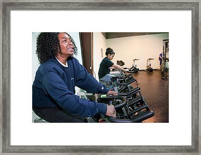 Green Gym Framed Print by Jim West