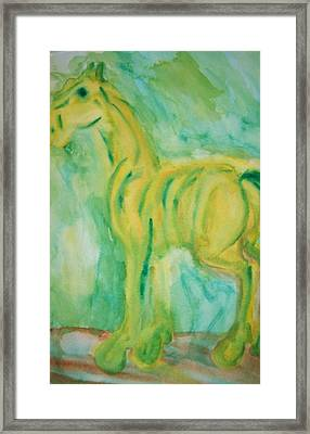 With Hope For A Green Future Framed Print by Hilde Widerberg
