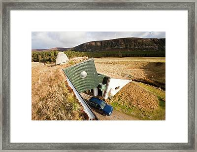 Green House That Was Built In The 1970 Framed Print by Ashley Cooper