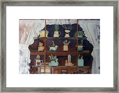 Green House Window Framed Print by Mary Helmreich