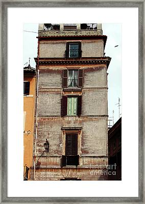 Green In The Middle Framed Print by John Rizzuto