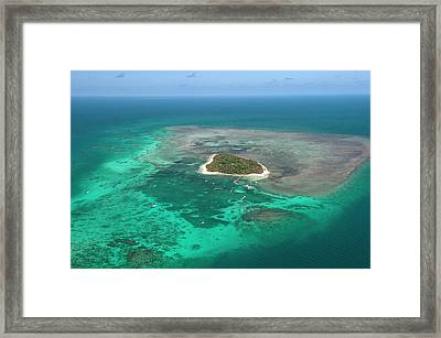 Green Island Framed Print by Louise Murray