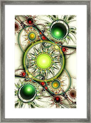 Green Jewelry Framed Print by Anastasiya Malakhova
