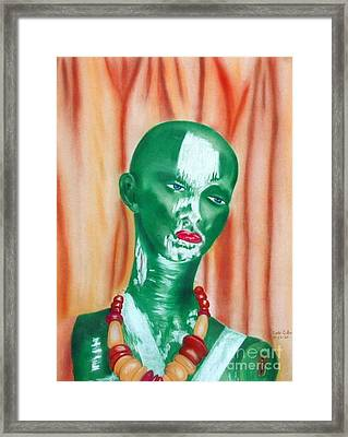 Green Lady Framed Print by Carla Jo Bryant