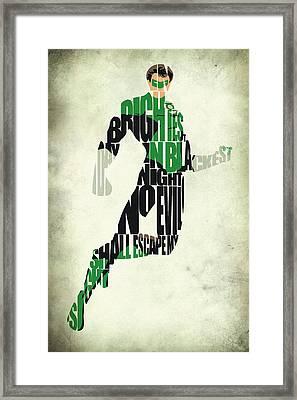 Green Lantern Framed Print by Ayse Deniz