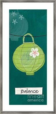 Green Lantern  Framed Print by Linda Woods