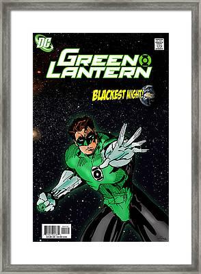 Green Lantern Framed Print by Mark Rogan