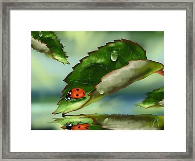 Green Leaf Framed Print by Veronica Minozzi