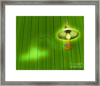 Green Light Framed Print by John King