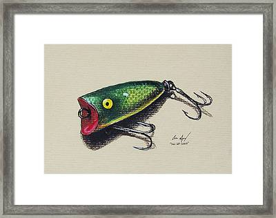 Green Lure Framed Print by Aaron Spong