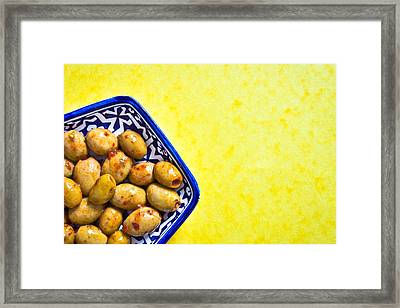 Green Olives Framed Print by Tom Gowanlock