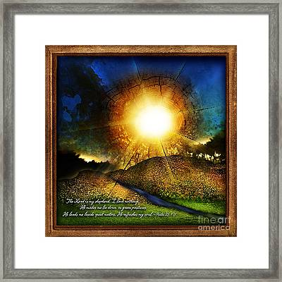Green Pastures Framed Print by Shevon Johnson