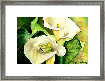 Green Peace Framed Print by Lyse Anthony