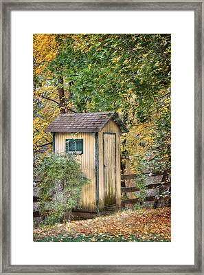Green Point Outhouse Framed Print by Lori Deiter