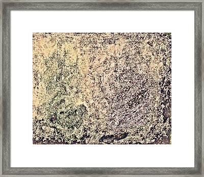 Green Purple Framed Print by Stanley Funk