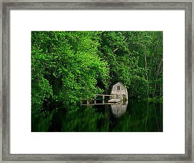 Green Reflections Framed Print by Kerri Ann Crau