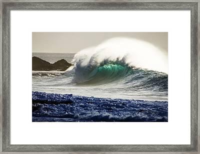 Green Torch Framed Print by Sean Davey