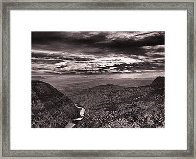 Green River Canyon Framed Print by Joshua House