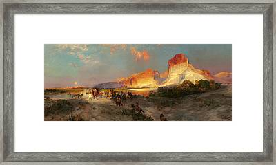 Green River Cliffs Wyoming Framed Print by Thomas Moran