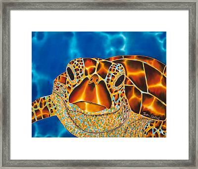 Green Sea Turtle Framed Print by Daniel Jean-Baptiste