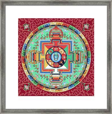 Green Tara Mandala Thangka Framed Print by Ies Walker