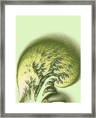 Green Wave Framed Print by Anastasiya Malakhova