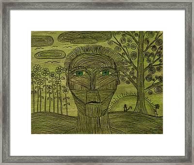 Green World Framed Print by Sean Mitchell