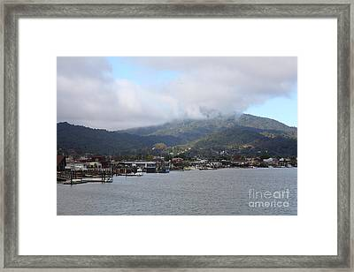 Greenbrae California Boathouses At The Base Of Mount Tamalpais 5d29350 Framed Print by Wingsdomain Art and Photography