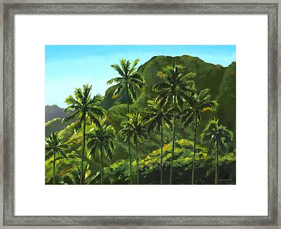 Greens Of Kahana Framed Print by Douglas Simonson