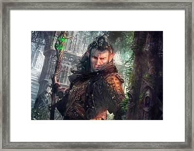 Greenside Watcher Framed Print by Ryan Barger