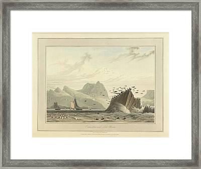 Greenstone Rock Framed Print by British Library
