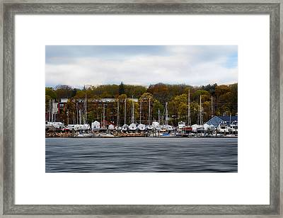 Greenwich Harbor Framed Print by Lourry Legarde