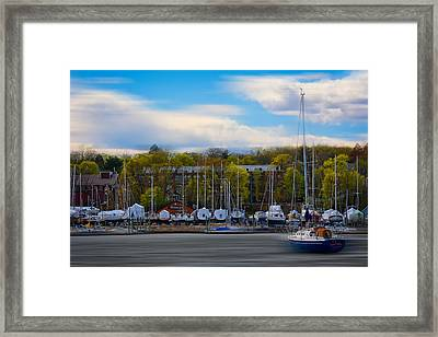 Greenwich Marina Framed Print by Lourry Legarde